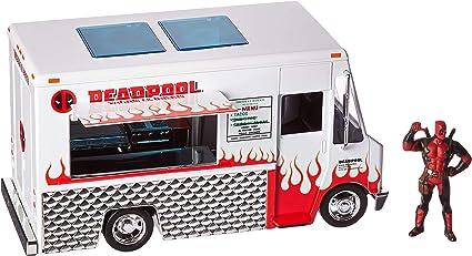 Jada Diecast Metal Hollywood Rides 1:24 DEADPOOL FOOD TRUCK w//DEADPOOL