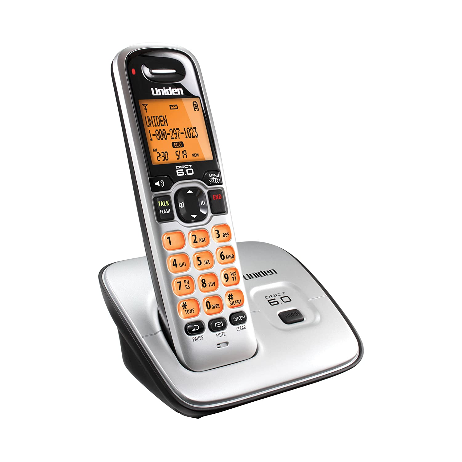amazon com uniden d1660 dect6 0 caller id cordless handset electronics rh amazon com