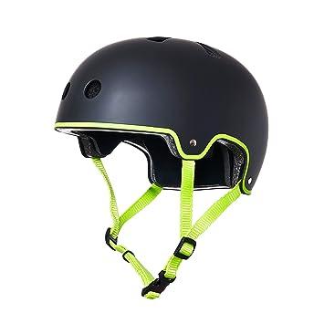 ECOXTREM Casco Color Negro para patinetes eléctricos ...