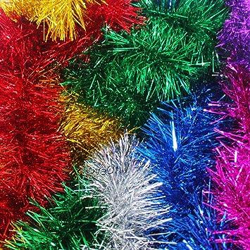 Weihnachtsbaum Girlande.Amazon De Lametta Girlande Grün 10 8 M Weihnachtsbaum Schmuck