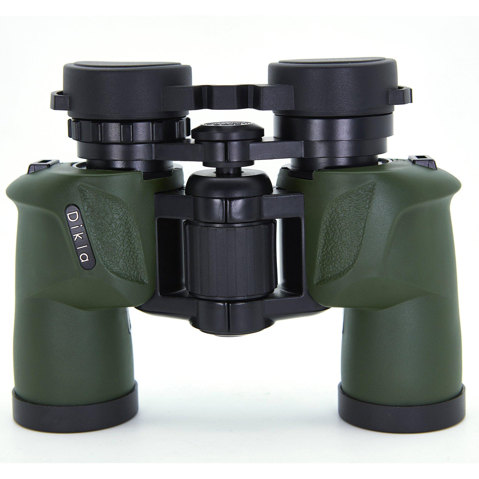 Binoculars For Adults 7x30 High Magnification Professional Powerful Binoculars For Kids Bird Watching Binocular Hunting Army Green by DIKLA