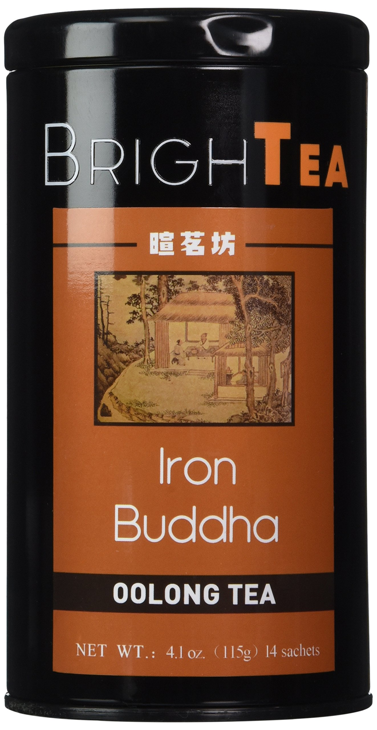 Brightea Monkey Picked Oolong Tea Loose Leaf China Tie Guan Yin Iron Mercy Goddess 4.1 Ounce Tin (Supreme Grade)