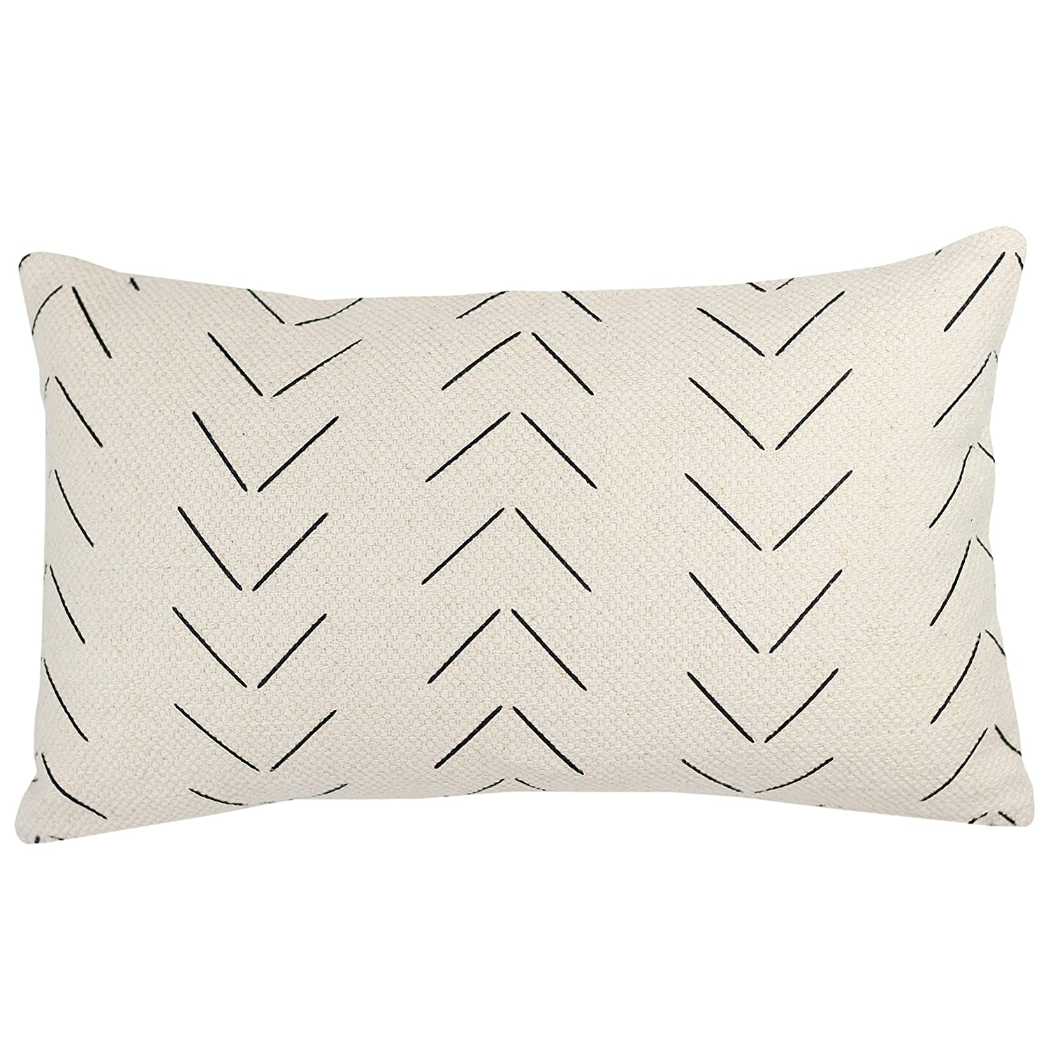 Woven Nook Decorative Lumbar Throw Pillow Cover Only For Couch Sofa Or Bed 12x20 12x26 12x40 Inch Modern Quality Design 100 Thick Woven Cotton