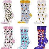 WeciBor Calcetines Estampados de las Mujeres, Mujeres Ocasionales Calcetines Divertidos Impresos de Algodón de Pintura…