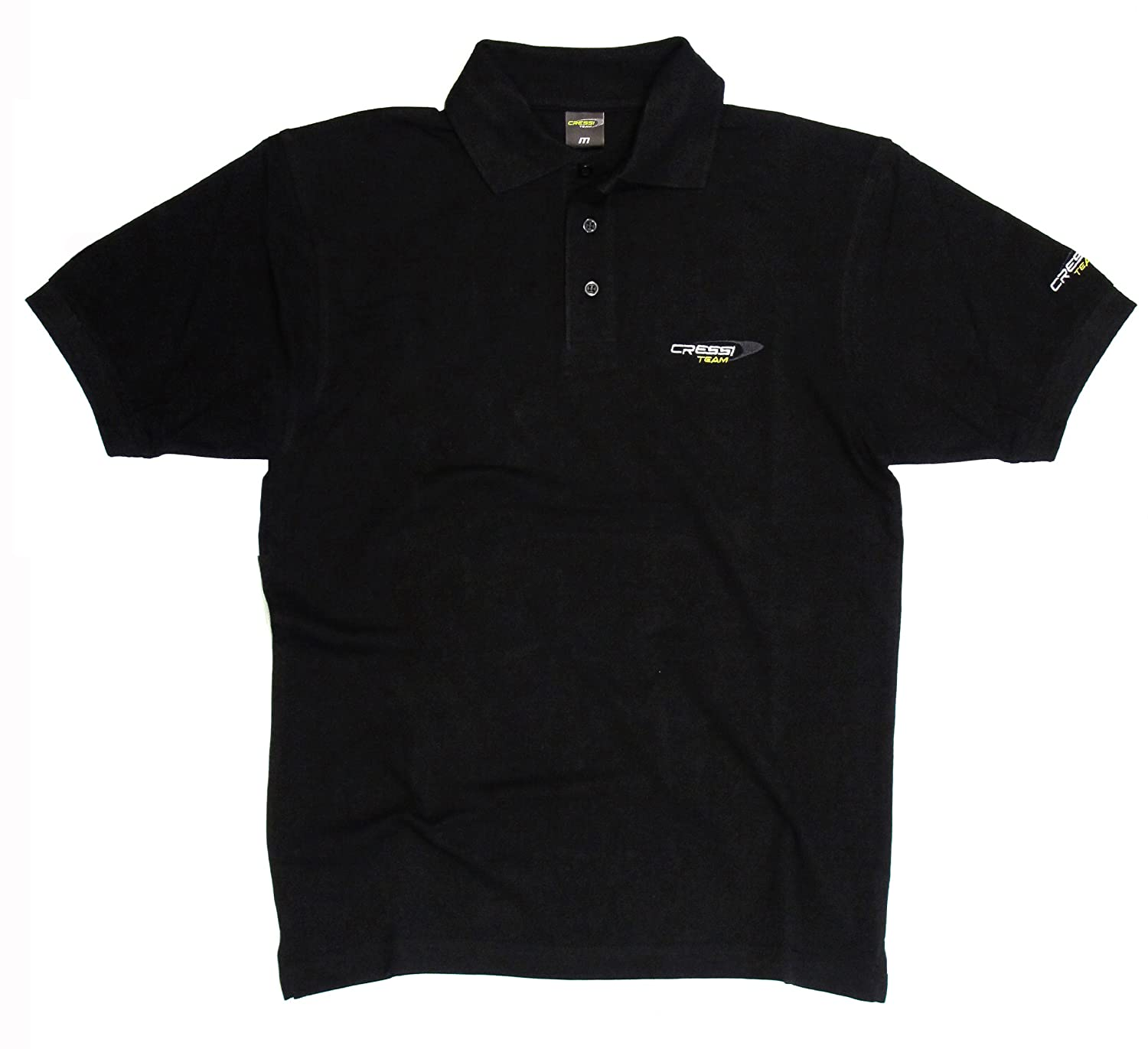 Cressi - Camiseta polo de color hombre team, talla t-xxl, color de negro dd65dc