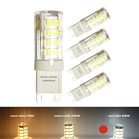 73f492c7c8e Lampaous® - Bombilla G9 LED