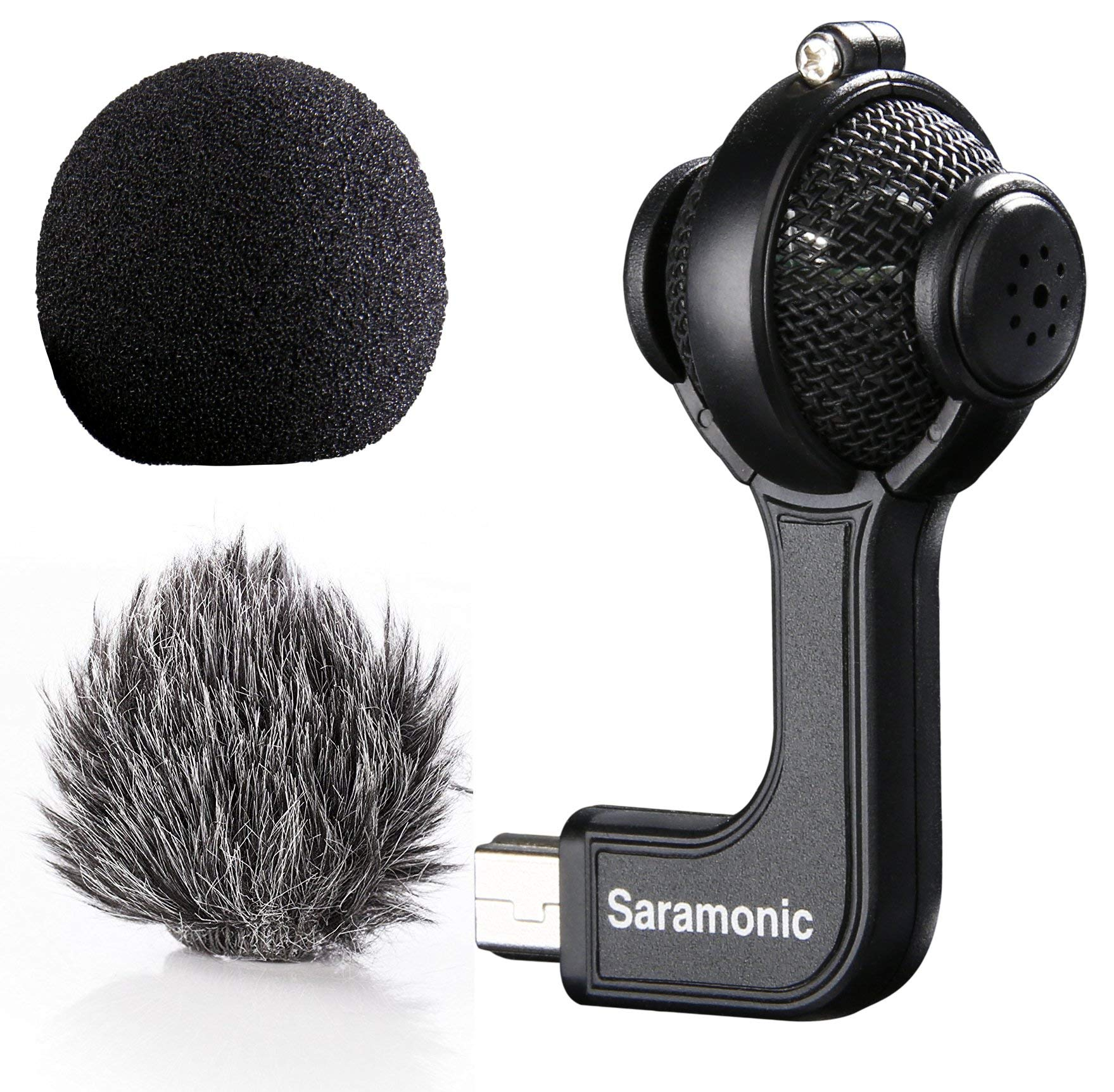 Saramonic G-Mic Stereo Ball Microphone with Foam & Furry Windscreens for GoPro HERO3, HERO3+ and HERO4 by Saramonic