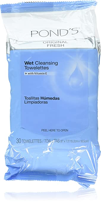 Amazon.com: Ponds Towelettes Original Fresh 30 Count (30ml) (6 Pack): Beauty