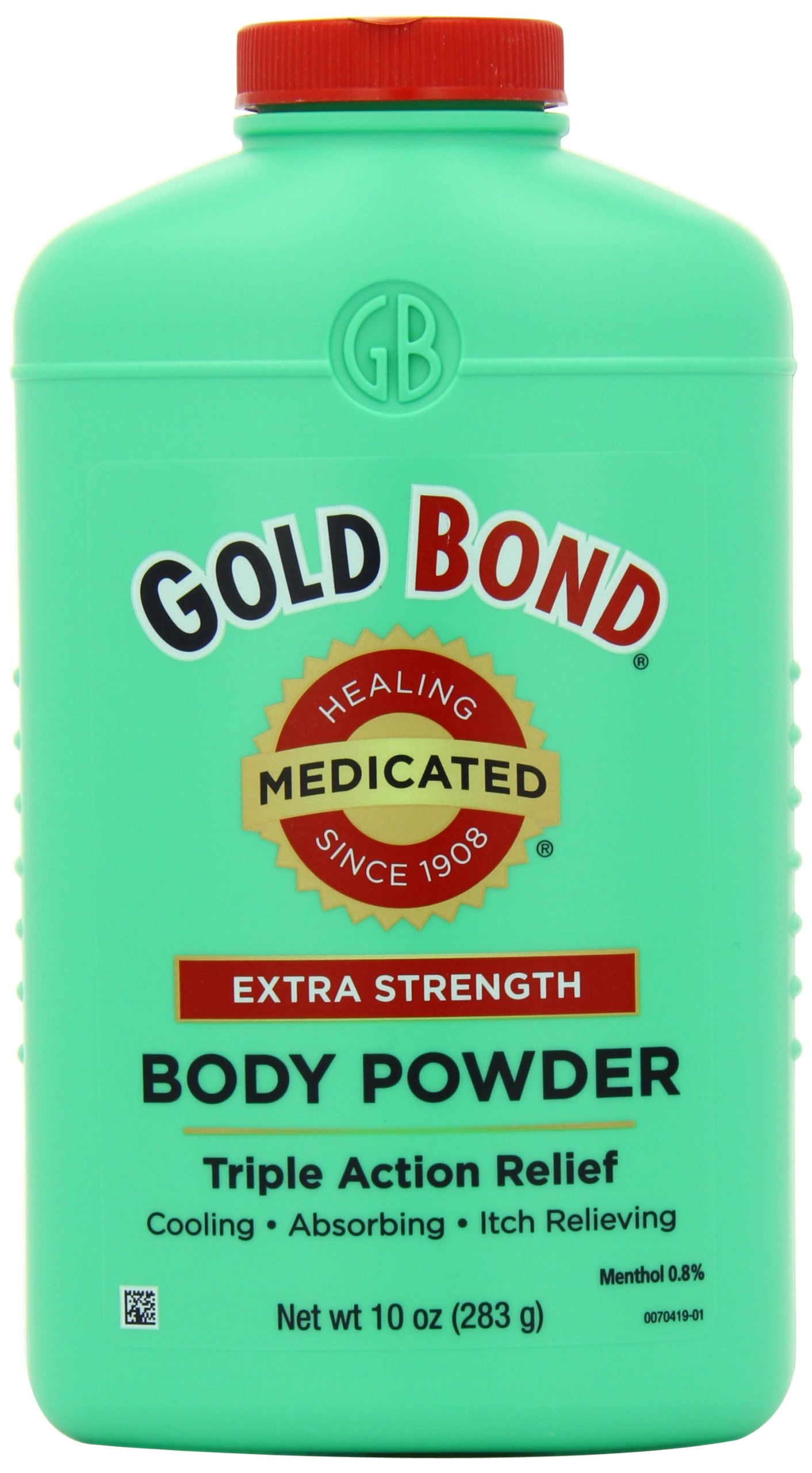 Gold Bond Medicated Extra Strength Powder, 10 Ounce Containers (Pack of 3), Helps Soothe and Relieve Skin Irritaitons and Itching, Cools, Absorbs Moisture, Deodorizes, Stronger than Gold Bond Original