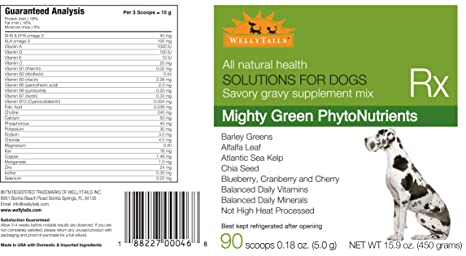 Amazon.com: wellytails Mighty Verde fitonutrientes Plus ...