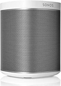 Original Sonos Play:1 - Compact Wireless Speaker for streaming music. Compatible with Alexa devices for voice control. (metallic white), Works with Alexa
