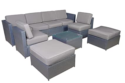 Outstanding Mcombo Cozy Outdoor Garden Patio Rattan Wicker Furniture Sectional Sofa Grey 6085 Onthecornerstone Fun Painted Chair Ideas Images Onthecornerstoneorg