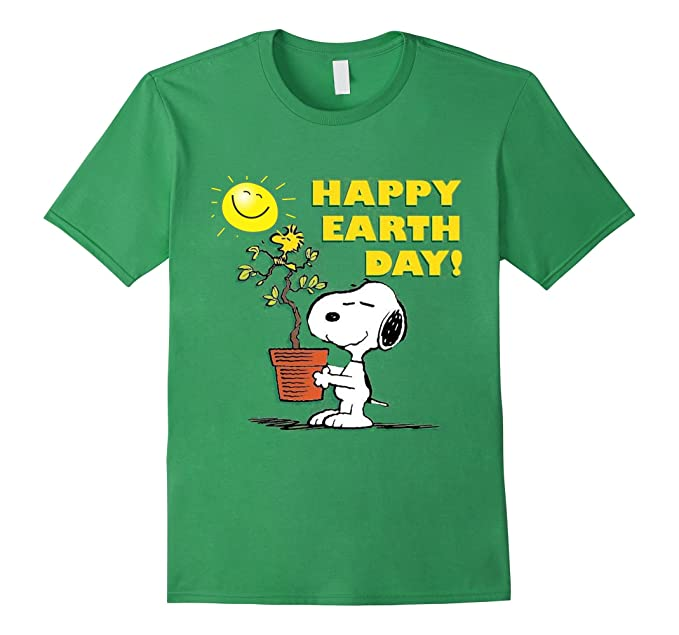 Happy Earth Day Peanuts Shirt with Snoopy
