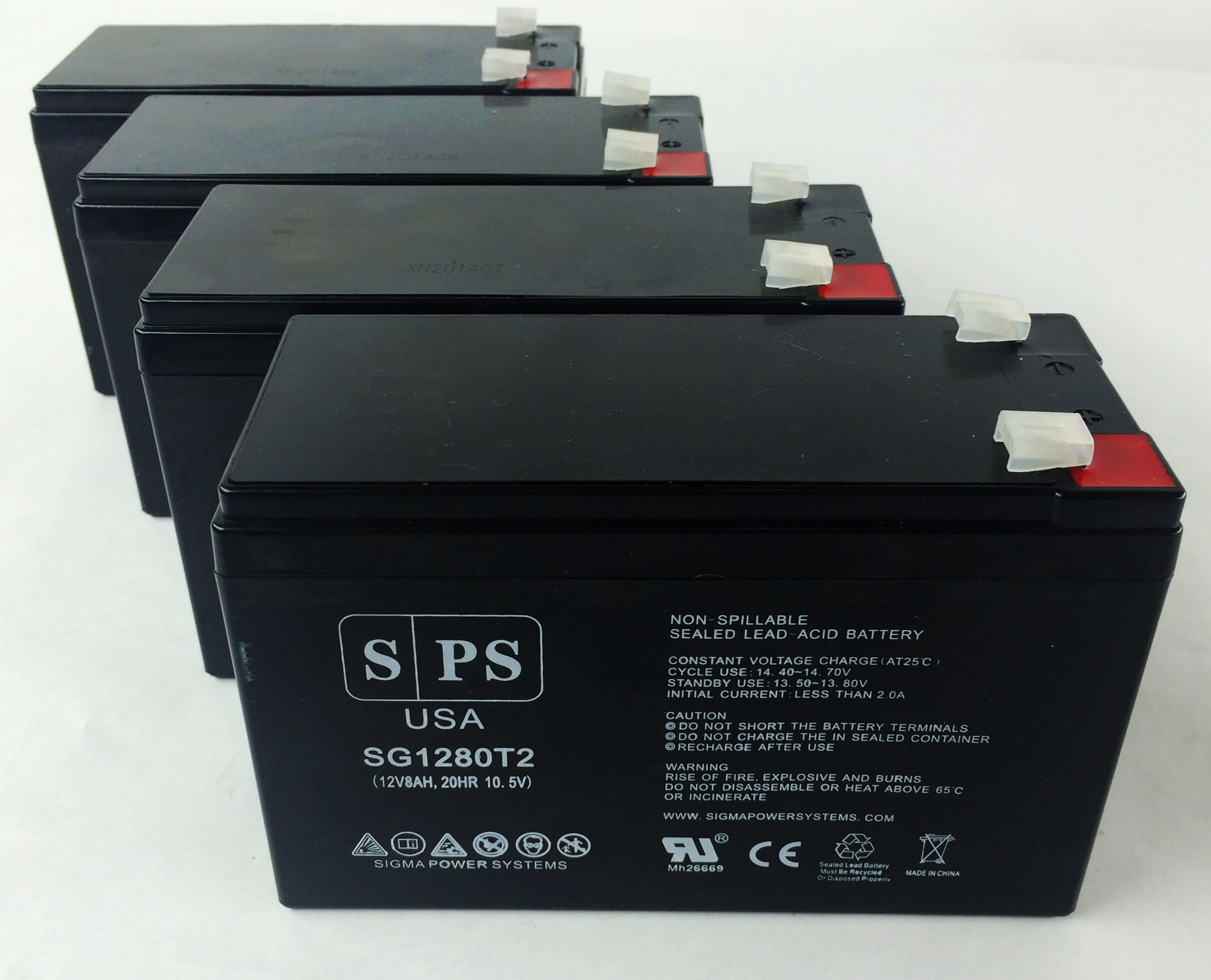 Replacement Battery for APC Professional 12V 8Ah UPS Battery (4 pack)
