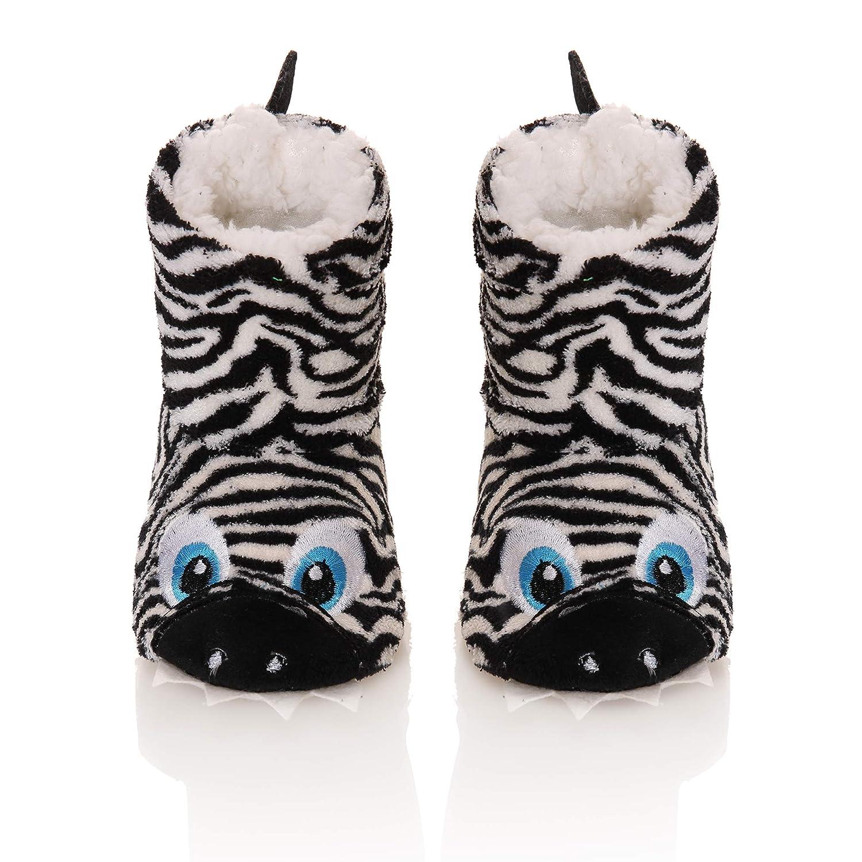 Kids Boy Girl Soft Warm Winter Plush Non-Skid House Slipper Shoes Boot Socks