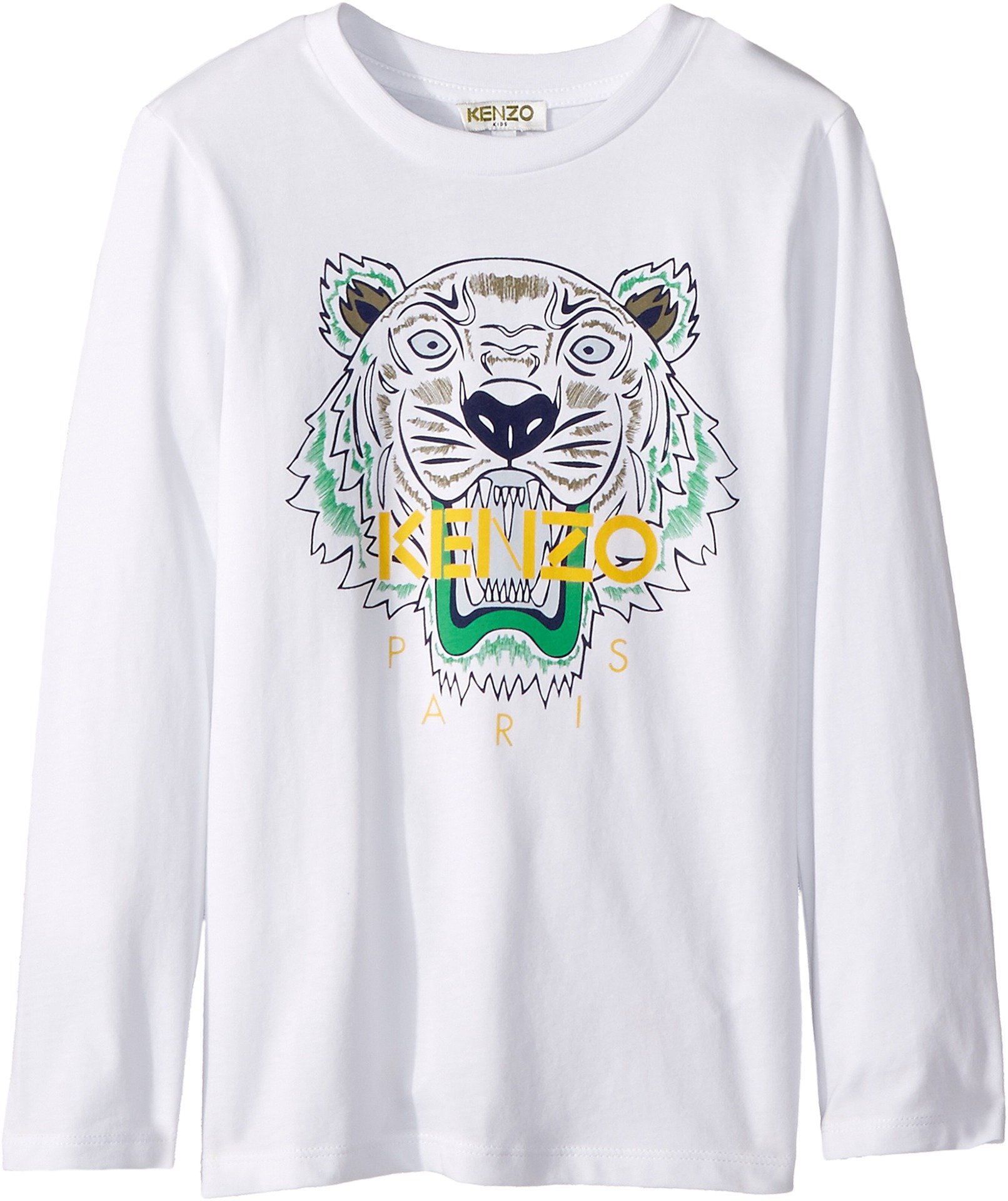 Kenzo Kids Baby Boy's Tiger T-Shirt (Toddler/Little Kids) Optical White 6A