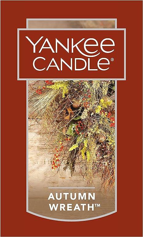 Yankee Candle Pumpkin Wreath Large Jar 22oz NEW Autumn Fall Thanksgiving