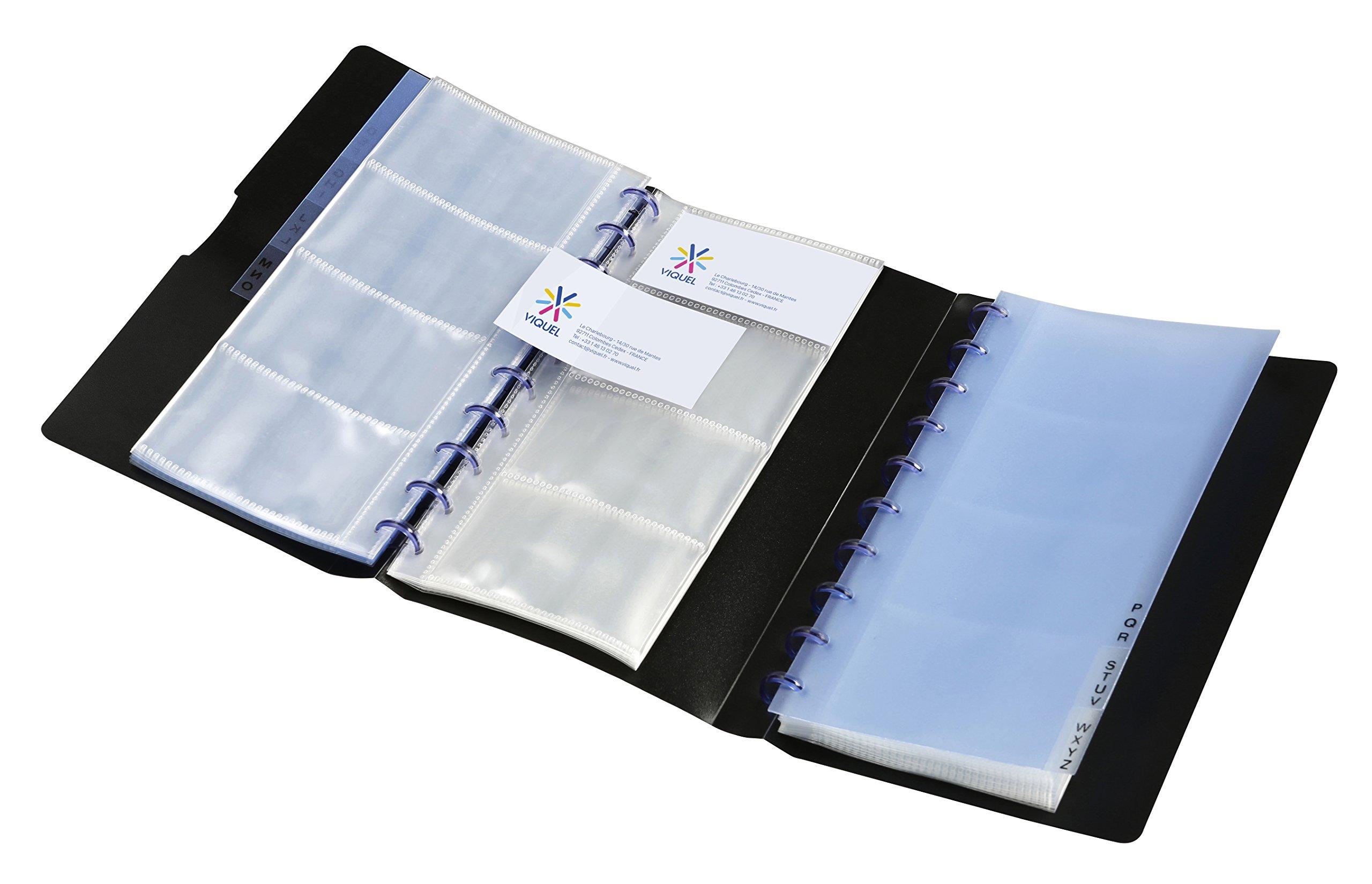 Viquel Geode Business Business Card Holder 240Cards Black