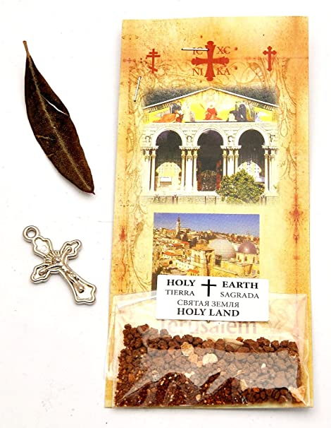 Olive Tree Live /& Gerusalemme Sabbia Holy Earth Tierra Cross