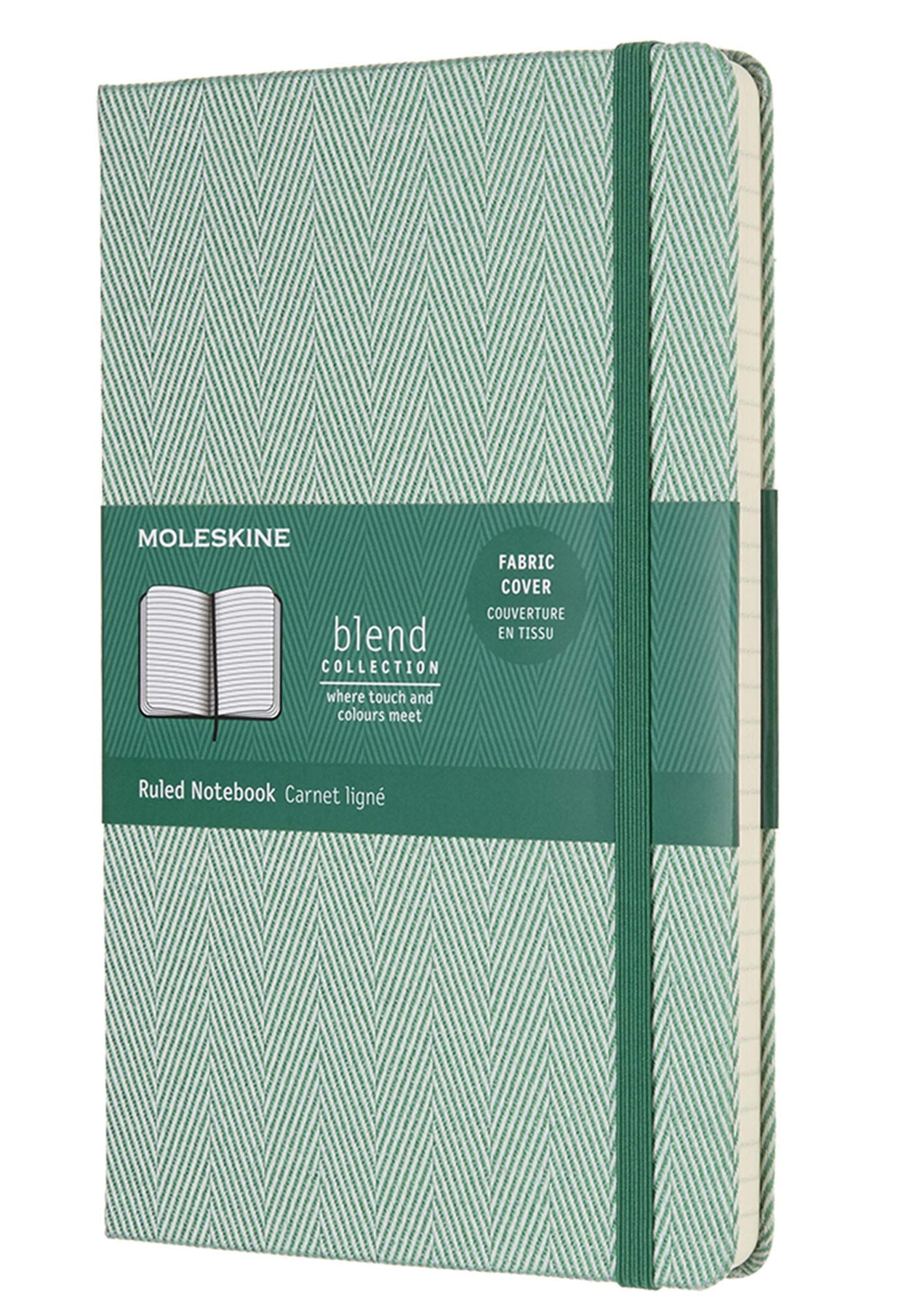 Moleskine Limited Edition Blend Collection Notebook Large Ruled Green (8055002856003) by Moleskine