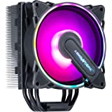 ABKONCORE RGB CPU Cooler CT403B, 4 Continuous Direct Contact Heatpipes, 120mm PWM SYNC Addressable RGB Fan with SYNC 61 LED M