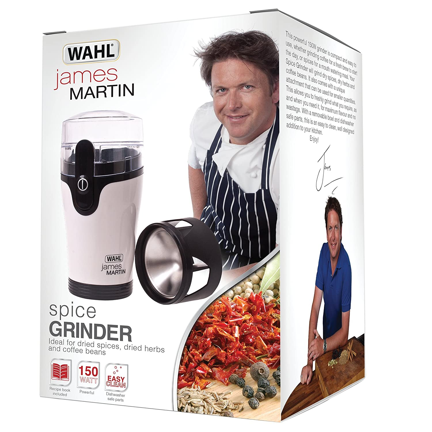 Uncategorized James Martin Kitchen Appliances amazon com james martin by wahl zx789 spice grinder with spices recipe booklet white black kitchen dining