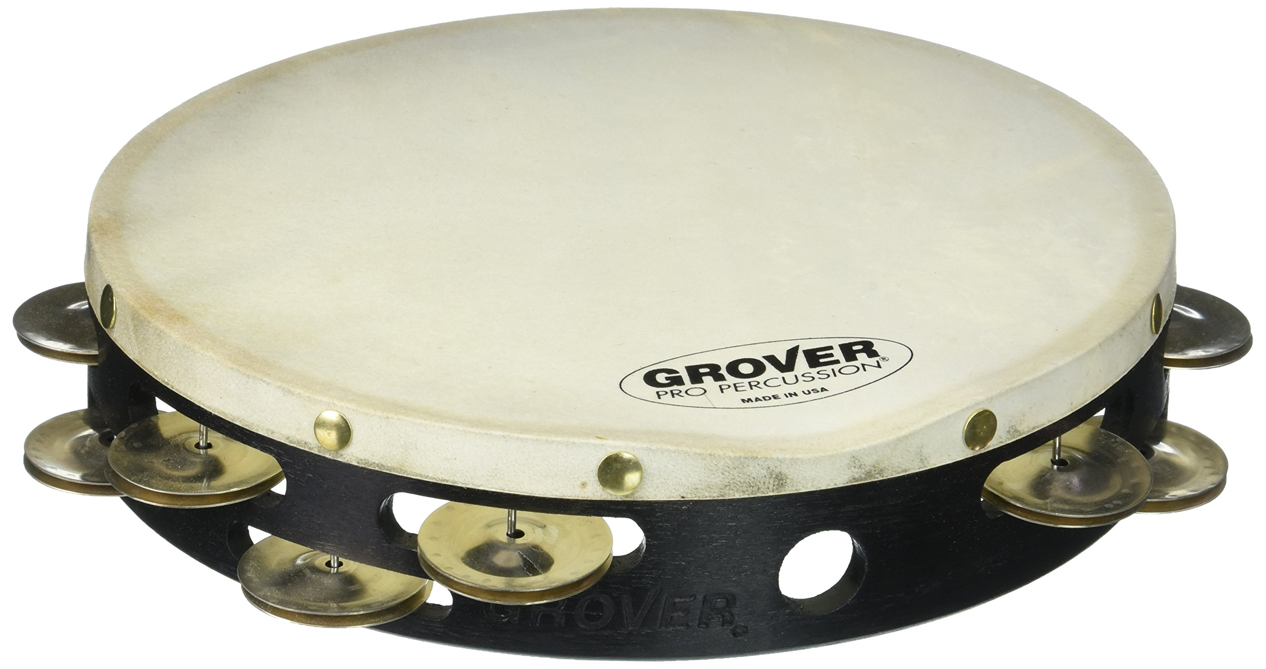 Grover Pro Projection-Plus Double-Row German Silver Tambourine 10 in. 10 in. by Grover Pro