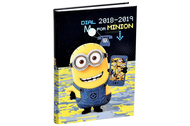 Alpa - 1 Agenda Scolaire Journalier Août 2018 à Août 2019 - Les Minions - VisuelDIAL M FOR MINION - 12 x 17 cm