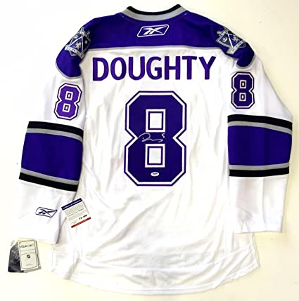 outlet store 76856 bd95a Drew Doughty Signed La Kings Reebok Premier Rookie Year ...