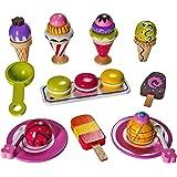 Ice Cream Toy - Pretend Ice Cream Set - Ice Cream Play Set – Wooden Ice Cream Set - By Dragon Drew (25 PC Set)