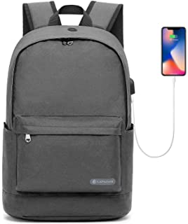 62597f6fb0 17 Inch Slim Laptop Backpack Lightweight College School Computer Backpacks  Anti Theft Casual Daypack Canvas Bag