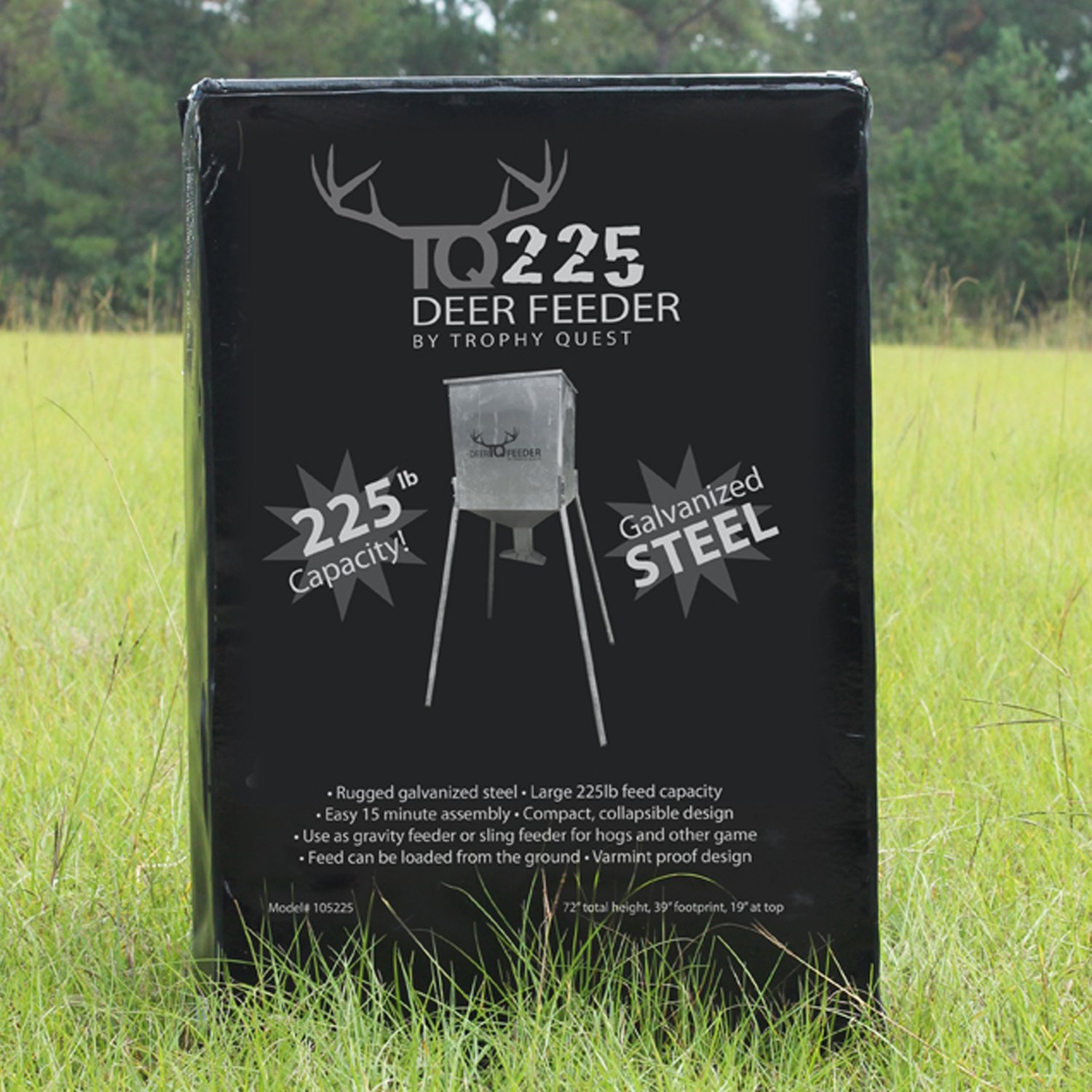 and border hangem easy fill em stand simply steel hang deer best feeders with the high feeder