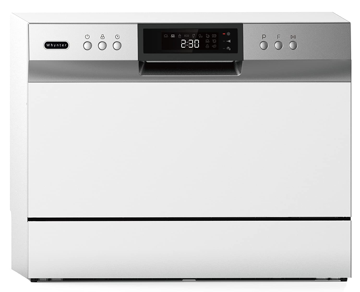 Whynter CDW-6831WES Energy Star 6 Place Setting LED, White Countertop Portable Dishwasher,