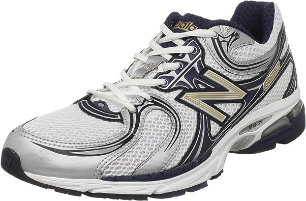 New Balance - Zapatillas de Running de Tela de Piel sintética para Hombre Azul NS Navy/Silver: Amazon.es: Zapatos y complementos