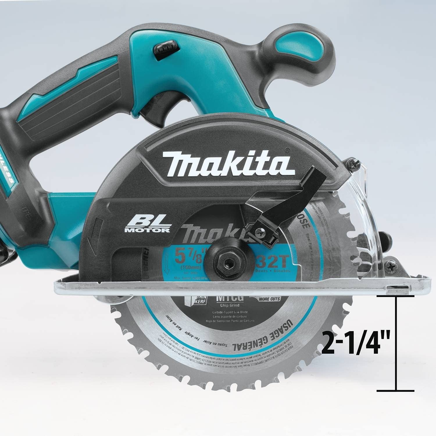 Makita XSC02Z 18V LXT Lithium-Ion Brushless Cordless Metal Cutting Saw, 5-7 8