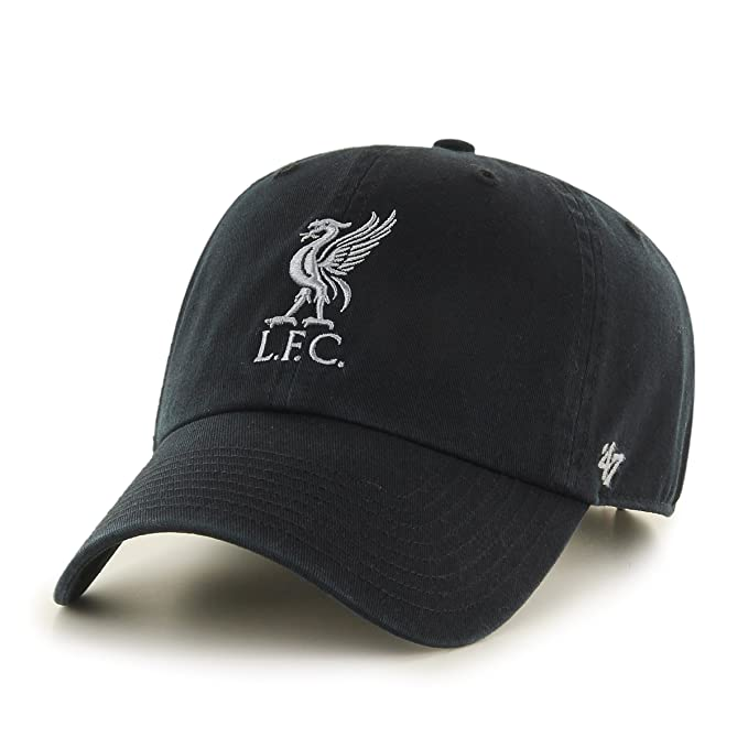 b97bb3846aa 47 Brand EPL Liverpool FC Clean Up Cap - Black   Grey  Amazon.ca  Clothing    Accessories