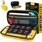 Carry Case for Nintendo Switch Lite - Portable Travel Carry Case with Storage for Switch Lite Games & Accessories [Yellow]