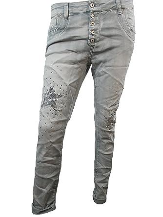 Boyfriend Jeans mit Pailletten