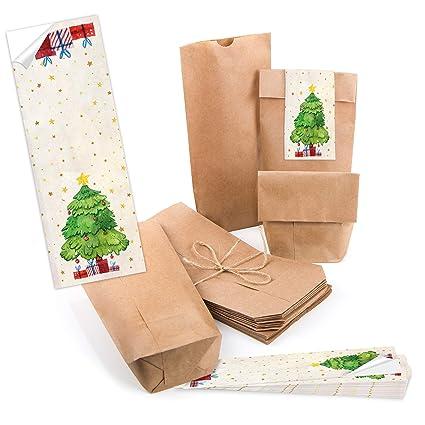 25 pequeñas bolsas marrones suelo Papel Bolsa de papel de ...