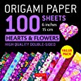 Origami Paper Hearts & Flowers: 100 Sheets (15CM)
