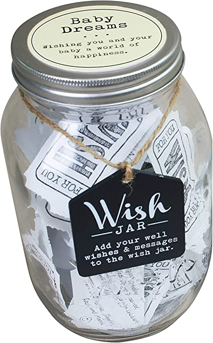 Top Shelf Baby Dreams Wish Jar Personalized Gift For A Boy Or Girl Unique And Thoughtful Gift Ideas For Newborns Kit Comes With 100 Tickets And Decorative Lid Amazon Co Uk