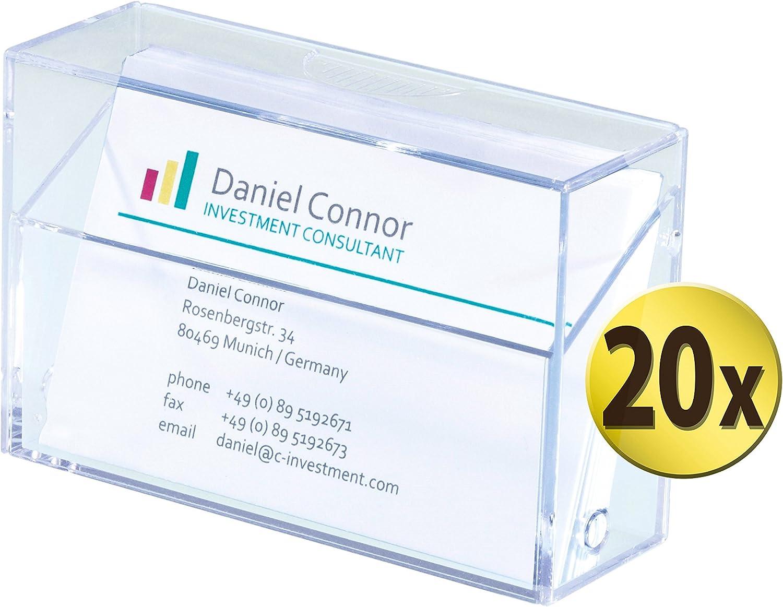 Sigel GmbH VA110/20 tarjetas de visita de caja para 100 tarjetas ...