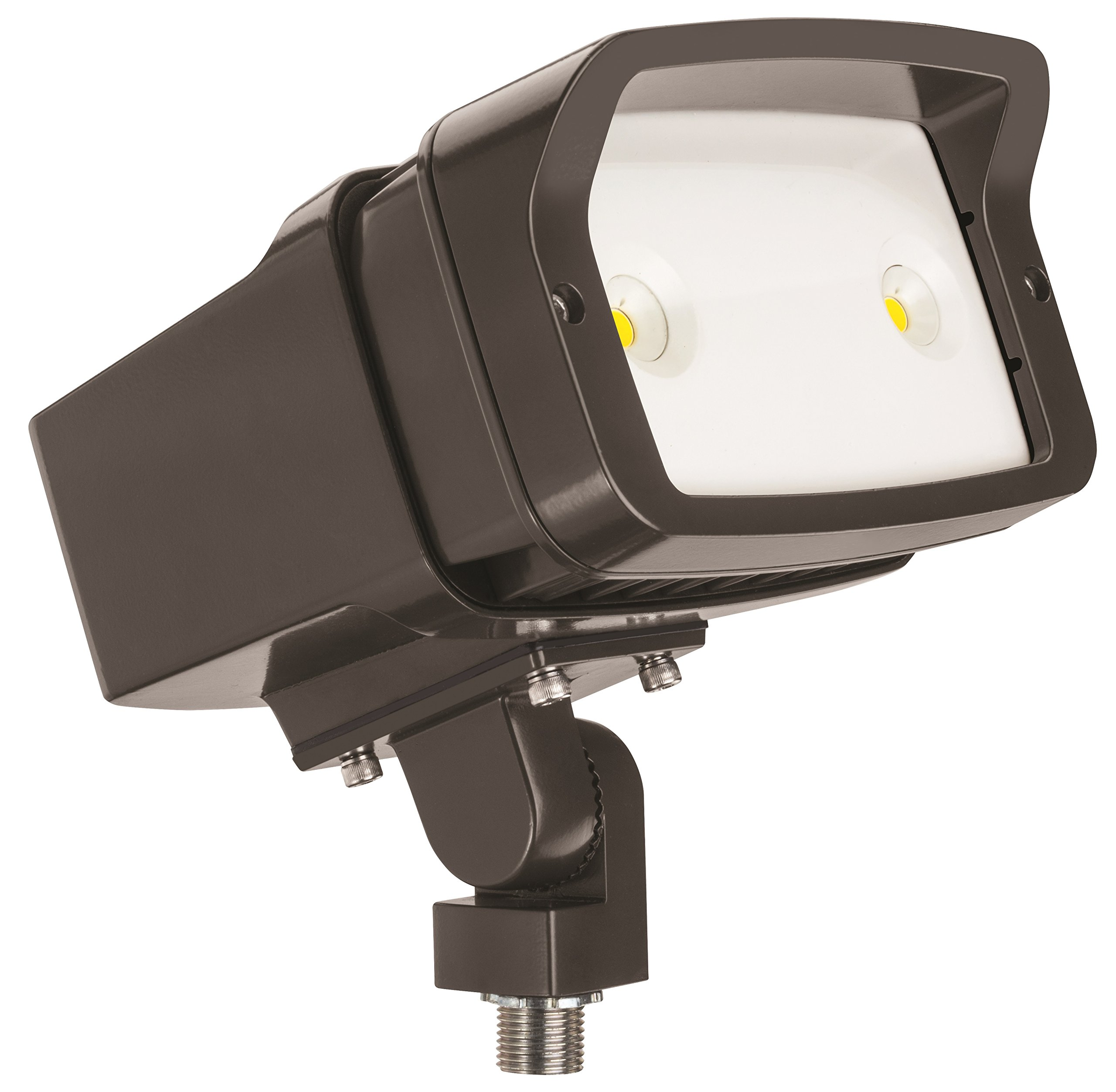 Lithonia Lighting OFL1 LED P1 40K MVOLT THK DDBXD M4 4000K Color Temperature Size 1 Floodlight with P1 Performance Package - Knuckle Mounted