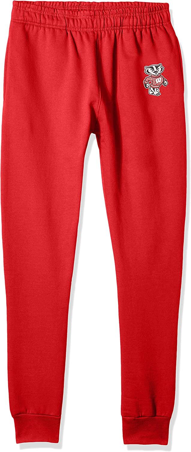 X-Large Red Old Varsity Brand NCAA Wisconsin Badgers Mens Banded Bottom Jogger