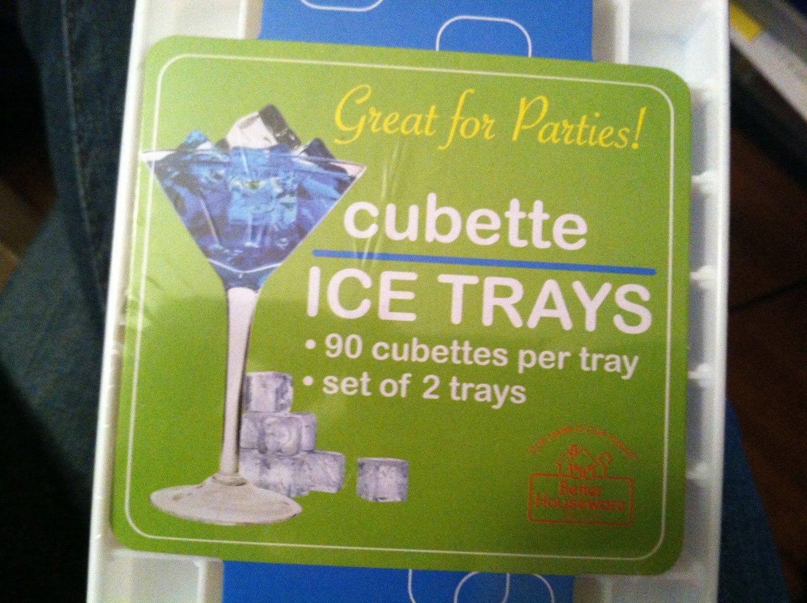 4 X Cubette Mini Ice Cube Trays (Set of 4, White) by Rovel