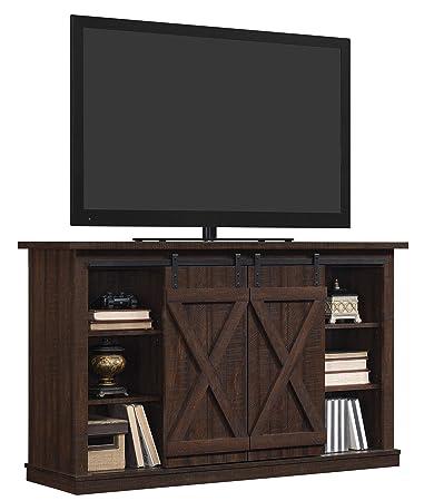 buy popular cfbb0 bc44c Pamari TC54-6127-PD01 Wrangler Sliding Barn Door TV Stand, Sawcut Espresso