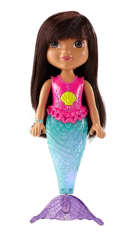Dora La Exploradora Sirena Muñeca Color Morado Mattel Cdr85