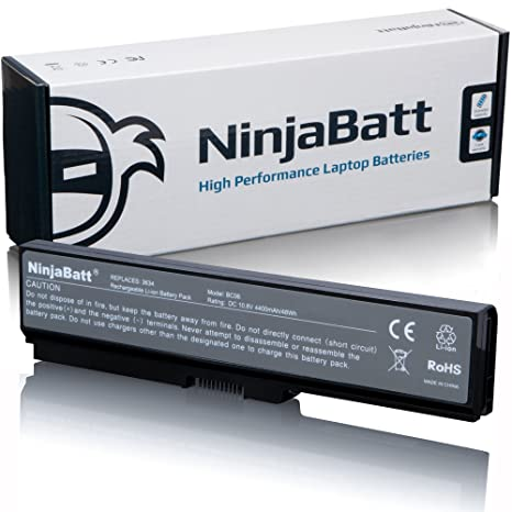 NinjaBatt Laptop Battery for Toshiba PA3634U-1BAS PABAS228 Satellite A665 M505-S4940 A665-