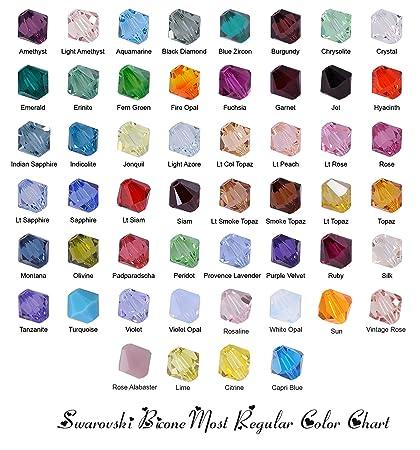 5c242d266a3d Amazon.com  Wholesale Lot 100 pcs Bicone 6mm 5328 Swarovski Crystal ...