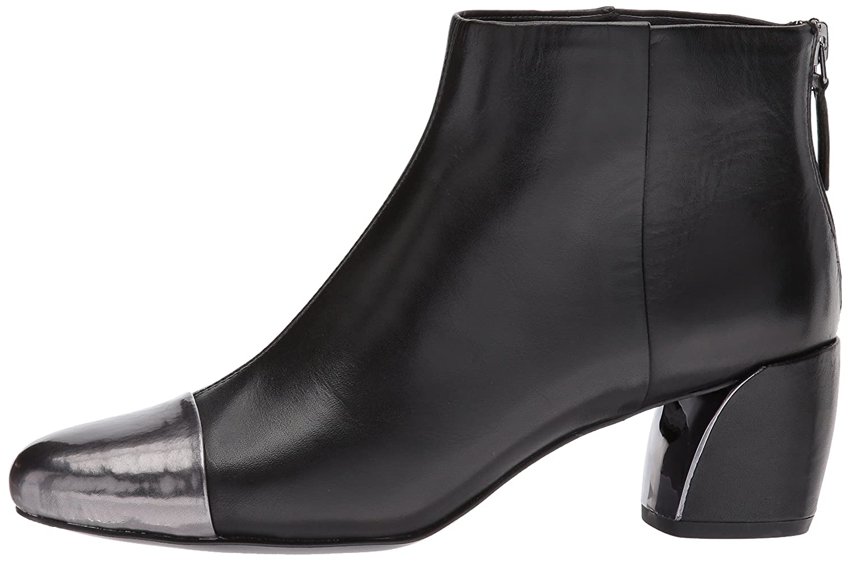 Nine West Women's Joannie Ankle Boot B01MUXD23F 7 B(M) US Black/Pewter Leather